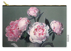 Pink Peonies In White Coffeepot Carry-all Pouch