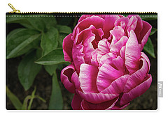 Carry-all Pouch featuring the photograph Pink Peony by Jean Noren