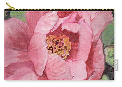 Pink Peony Carry-all Pouch by Kristen Abrahamson