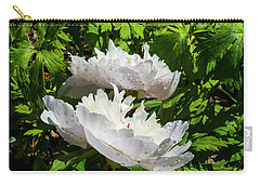 Pink Peony Carry-all Pouch by Tamara Sushko