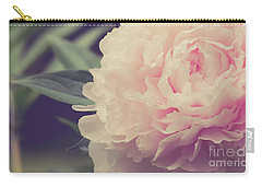 Carry-all Pouch featuring the photograph Pink Peony Vintage Style by Edward Fielding