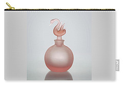 Carry-all Pouch featuring the photograph Pink Perfume Bottle Vertical by David and Carol Kelly