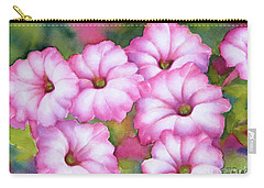 Pink Petunias Carry-all Pouch
