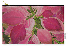 Pink Poinsettia Carry-all Pouch