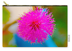 Pink Puff Flower Carry-all Pouch