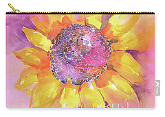 Pink Purple Yellow Sunflower  Carry-all Pouch