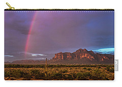 Carry-all Pouch featuring the photograph Pink Rainbow  by Saija Lehtonen