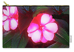 Carry-all Pouch featuring the photograph Pink Red Glow by Roger Bester