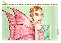 Pink Ribbon Fairy For Breast Cancer Awareness Carry-all Pouch