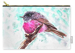 Pink Robin  Carry-all Pouch