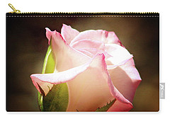 Pink Rose 2 Carry-all Pouch by Inspirational Photo Creations Audrey Woods