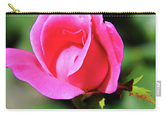 Pink Rose Bud Carry-all Pouch