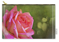 Pink Rose Dream Digital Art 3 Carry-all Pouch by Walter Herrit