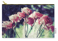 Pink Rose Flowers Carry-all Pouch by Phil Perkins