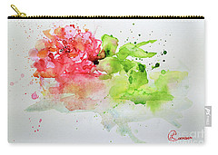 Pink Rose In A Puddle Carry-all Pouch