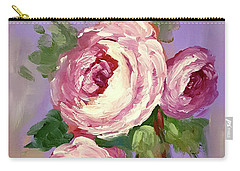 Pink Rose Carry-all Pouch by Janet Garcia
