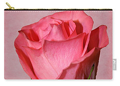 Carry-all Pouch featuring the photograph Pink Rose by Judy Vincent