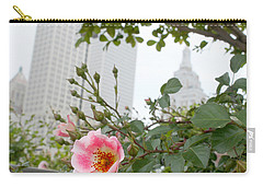 Pink Rose Of Tulsa Carry-all Pouch