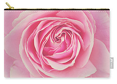 Pink Rose Petals Carry-all Pouch by Melanie Alexandra Price