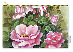 Pink Roses Carry-all Pouch by Katia Aho