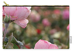 Pink Roses Carry-all Pouch by Laurel Powell