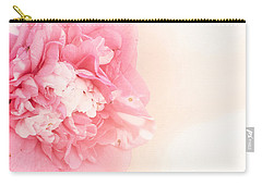 Carry-all Pouch featuring the photograph Pink Ruffled Camellia by Cindy Garber Iverson