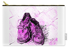 Carry-all Pouch featuring the photograph Pink Shoes by John Stephens