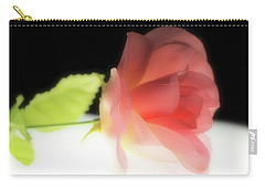 Pink Silk Rose Carry-all Pouch