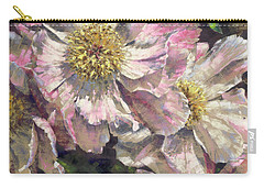 Pink Single Peonies Carry-all Pouch