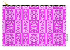 Pink Skull And Crossbones Pattern Carry-all Pouch