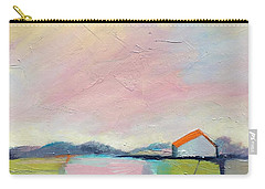 Carry-all Pouch featuring the painting Pink Sky by Michelle Abrams