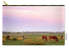 Carry-all Pouch featuring the photograph Pink Sky Night by Melinda Ledsome
