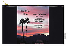 Pink Sky Sunset From A Desert Trip Carry-all Pouch by Desiderata Gallery