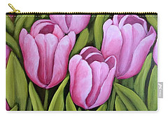 Pink Spring Tulips Carry-all Pouch