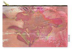 Pink Striped Tulip Flower Carry-all Pouch by Suzanne Powers