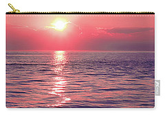 Pink Sunset Carry-all Pouch by Colleen Kammerer