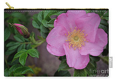Carry-all Pouch featuring the photograph Pink Tea Rose by Debra Fedchin