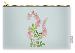 Carry-all Pouch featuring the painting Pink Tiny Flowers by Ivana Westin