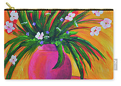 Pink Vase In Warm Afternoon Carry-all Pouch
