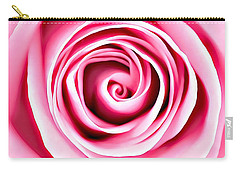 Carry-all Pouch featuring the mixed media Pink Vortex by Lucia Sirna