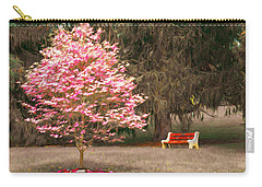 Pinky And The Bench - Impressionism Carry-all Pouch