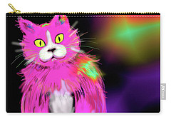 Carry-all Pouch featuring the painting Pinky Dizzycat by DC Langer