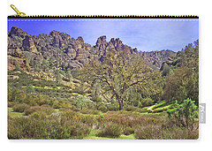 Carry-all Pouch featuring the photograph Pinnacles National Park Watercolor by Art Block Collections