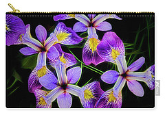 Pinwheel Purple Iris Glow Carry-all Pouch