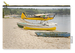 Piper Super Cub Floatplane Near Pond In Maine Canvas Poster Print Carry-all Pouch by Keith Webber Jr