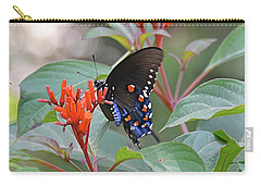 Pipevine Swallowtail Butterfly On Firebush Carry-all Pouch