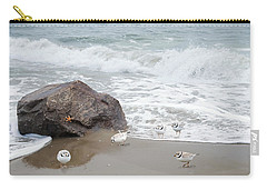 Carry-all Pouch featuring the photograph Piping Plovers by Robin-Lee Vieira