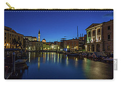 Carry-all Pouch featuring the photograph Piran Marina Dawn - Slovenia by Stuart Litoff
