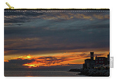 Carry-all Pouch featuring the photograph Piran Slovenia Sunset #2 by Stuart Litoff