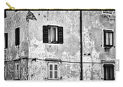 Carry-all Pouch featuring the photograph Piran Windows - Slovenia by Stuart Litoff